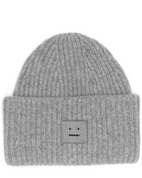 Acne   Gray Pansy Wool Beanie for Men   Lyst