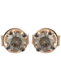 Annoushka - Multicolor White Gold Grey Pave Dusty Diamond Hoop Earrings - Lyst