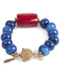 Oscar de la Renta - Blue Semi-precious Bracelet - Lyst