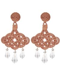 Anna E Alex | Multicolor Crystal Jute Lanterna Deco Earrings | Lyst