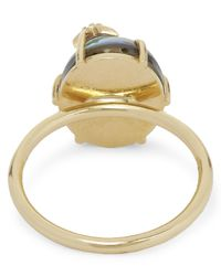 Andrea Fohrman - Metallic Gold And Mother Of Pearl Quartz Diamond Ring - Lyst