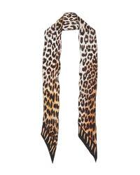 Rockins - Multicolor Leopard's Teeth Super Skinny Silk Scarf - Lyst