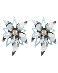 Alexis Bittar | Blue Gold-plated Inverted Abstract Lucite Poppy Earrings | Lyst