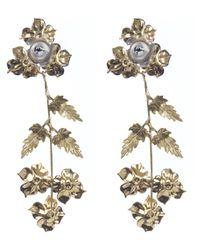Jennifer Behr - Blue Gold-plated Madeline Drop Earrings - Lyst