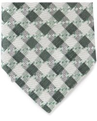 Paul Smith - Green Check Print Tie for Men - Lyst