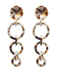 Lele Sadoughi - Metallic Acetate Wind Chime Hoop Earrings - Lyst