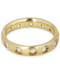 Polly Wales - Metallic Gold White Sapphire Ring - Lyst