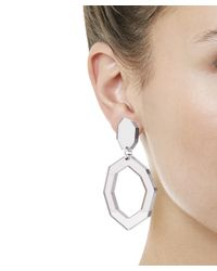 Diana Broussard   Metallic Eurydice Mirror And Resin Earrings   Lyst