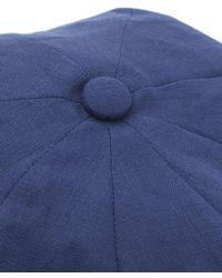 Christys' - Blue 8 Piece Linen Baker Boy Hat for Men - Lyst