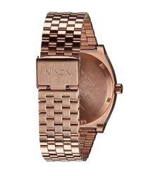 Nixon - Multicolor Rose Gold-tone Time Teller Stainless Steel Watch - Lyst