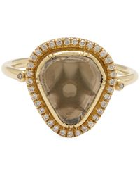 Brooke Gregson - Metallic Gold Starlight Triangle Diamond Slice Pavé Ring - Lyst