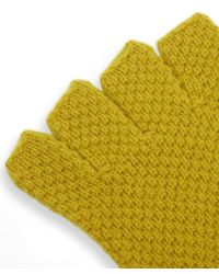 Jo Gordon - Multicolor Moss Stitch Lambswool Fingerless Gloves - Lyst