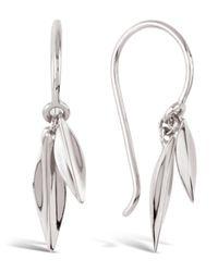 Dinny Hall - Metallic Silver Lotus Double Leaf Drop Earrings - Lyst