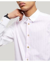 Paul Smith - Pink Candy Stripe Cotton Shirt for Men - Lyst