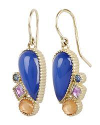 Larkspur & Hawk - Blue Gold Cora Cluster Drop Earrings - Lyst
