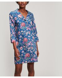 Liberty Blue Elysian Paradise Tana Lawntm Cotton Pyjama Set