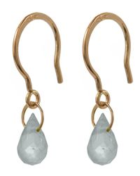 Melissa Joy Manning - Metallic Gold White Topaz Mini Drop Earrings - Lyst