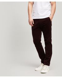 NN07 Red Benjamin Corduroy Trousers for men
