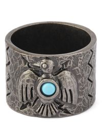 Valentino | Metallic Eagle Stone Ring | Lyst