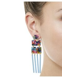 Lele Sadoughi - Blue Jungle Punch Carnival Earrings - Lyst