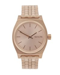 Nixon - Pink Medium Time Teller Watch - Lyst