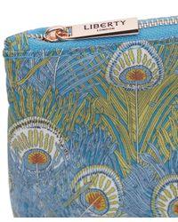Liberty - Blue Medium Hera Print Tana Lawn Wash Bag - Lyst