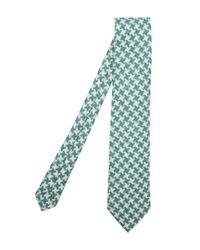 Drake's - Blue Large Houndstooth Tie for Men - Lyst