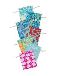 Lilly Pulitzer - Blue Surf Gypsea Stretch Bracelet Set - Lyst