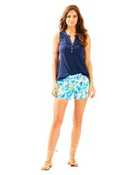 "Lilly Pulitzer - Blue 5"" Callahan Short - Lyst"