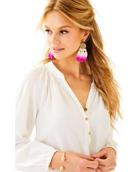 Lilly Pulitzer - White Elsa Silk Top - Lyst