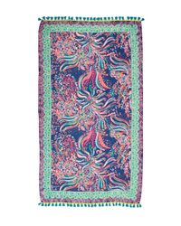 Lilly Pulitzer - Blue Palm Breeze Wrap - Lyst