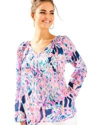 Lilly Pulitzer | Pink Willa Tunic Top | Lyst