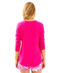 Lilly Pulitzer - Pink Stasia Sweater - Lyst