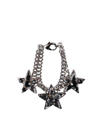 Emanuele Bicocchi - Metallic Brass Bracelet With Stars - Lyst