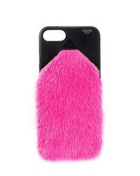Yggy Paris - Pink Mink Fur Iphone 7/8 Plus Case - Lyst
