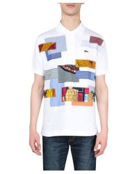 Junya Watanabe - White Lacoste Patchwork Cotton Polo for Men - Lyst