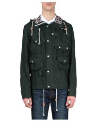 Junya Watanabe - Green Linen Field Jacket for Men - Lyst