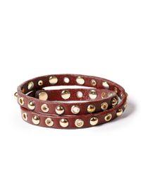 Linea Pelle | Red Double Wrap Bracelet | Lyst
