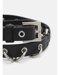 Valentino - Pierced Bracelet In Black for Men - Lyst
