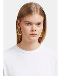 Monies - Metallic 24947 Warped Acacia Gold Leaf Pebble Clip-on Earrings In Gold - Lyst