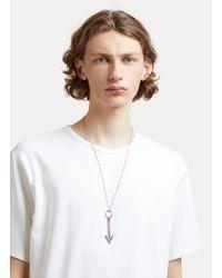 Lanvin - Metallic Long Arrow Pendant Necklace In Silver - Lyst