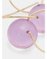 Marni Metallic Sphere Ring Link Necklace In Gold And Lilac