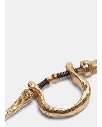 Pearls Before Swine - Metallic Screw Thorn Earring In Gold - Lyst