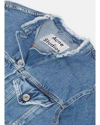 Acne Studios   Blue Tag Milk Denim Jacket   Lyst