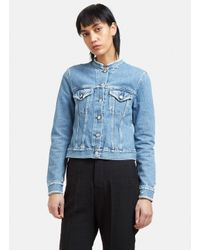 Acne Studios | Blue Tag Milk Denim Jacket | Lyst