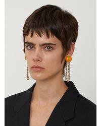 Marni - Resin And Crystal Drop Earrings In Orange - Lyst