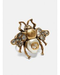 Gucci - Metallic Bee Ring In Gold - Lyst