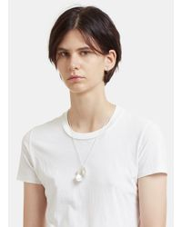 All_blues | Metallic Eggshell Polished Necklace In Silver | Lyst