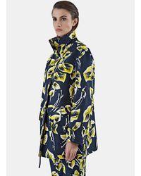Marni | Blue Women's Floral Print Gabardine Jacket In Navy | Lyst