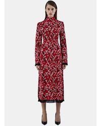 Proenza Schouler - Women's Long Jacquard Tweed Knit Dress In Red - Lyst